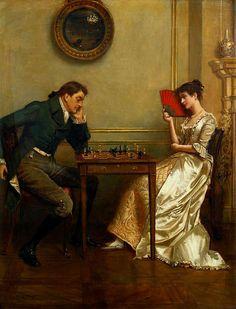 George Goodwin Kilburne 'A Game of Chess'