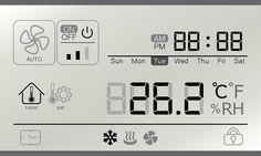 冷氣空調面板顯示幕設計