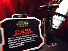 """Kylo Ren lightsabre: """"The crossguard blades, or quillons, are are raw power vented from the primary central blade."""""""