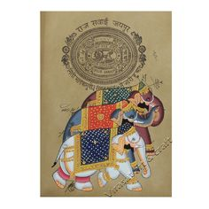 Miniature Painting of ancient Indian decorated multiple elephants on ancient rare stamp paper, gift, home decor, Indian handicraft, art by VirasatArtAndCraft on Etsy Rare Stamps, Paper Ship, Stamp Collecting, Rarity, Art Forms, Elephants, Art Pictures, Handicraft, Miniatures
