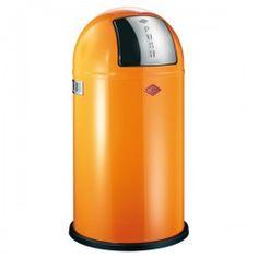 Wesco Pushboy Bin - modern orange kitchen bin