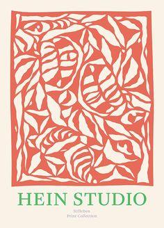 Buy Heliconia Lava by Hein Studio for Stilleben Print Collection - Poster Nordic Design, E Design, Wall Prints, Poster Prints, Posters Vintage, Photo Vintage, Design Graphique, Organic Shapes, Grafik Design