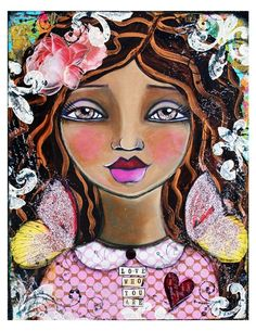 Love Who You Are ll Fine Art Print of Mixed Media painting