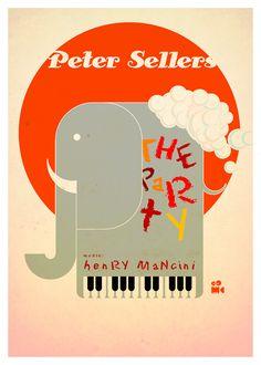 """""""The party""""  -  """"La fiesta inolvidable"""" Peter Sellers Claudine Longet  1968  Blake Edwards  Mus. Henry Mancini  *En india tenemos un refrán - ¿si? - si - ¿y bien? - ¿y bien que?"""