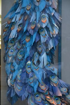 Origami peacock feathers