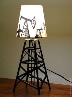 Купить Лампа нефтяника. - черный, лампа, ночник, уют, светильник, сталь, металл, хлопок, нефть