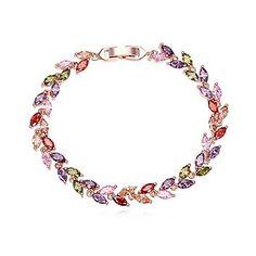 AAA Grade Zircon Copper Bracelet (More Colors) – USD $ 24.99