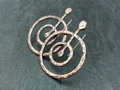 Return to Source Earrings medium  Copper and sterling by EarthenMe