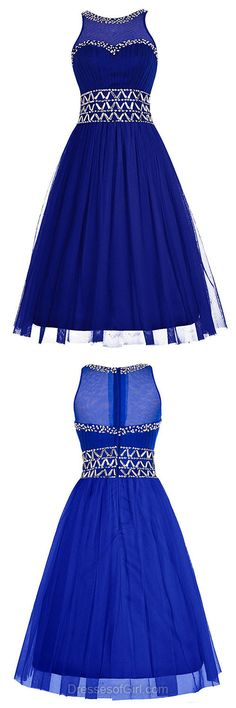 Royal Blue Prom Dresses, Short Homecoming Dresses, Beading Party Dresses, Summer Girls Gowns, Cheap Graduation Dress, Cute Cocktail Dresses