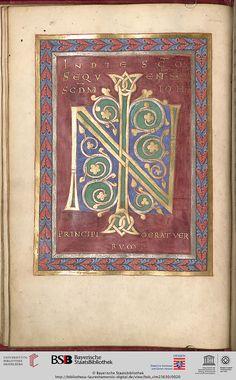 München, Bayerische Staatsbibliothek, Clm 23630 Evangelistarium — wohl Lorsch, 1. Hälfte oder Mitte 11. Jh. Facsimile
