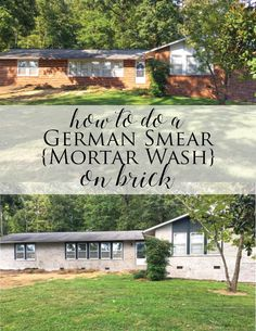 How To Do a German Smear Mortar Wash on Brick (Dave and Brittany's Fixer Upper!) | Less Than Perfect Life of Bliss | home, diy, travel, parties, family, faith