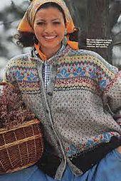 Ravelry: Favorittkofte fra Hjemmet 1993 pattern by Kari Ødegaard Fair Isle Knitting Patterns, Knitting Stiches, Knit Patterns, Clothing Patterns, Hand Knitting, Etnic Pattern, Handgestrickte Pullover, Norwegian Style, Norwegian Knitting
