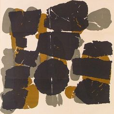 A Muted Palette : Raoul Ubac Abstrakcja czarno-szaro-brązowa, 1966.