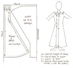 Sewing a Simple Apron-Dress ... an easier way to make a Hangerok-styled overdress (Women's Viking Garb)  #sca #garb #Viking