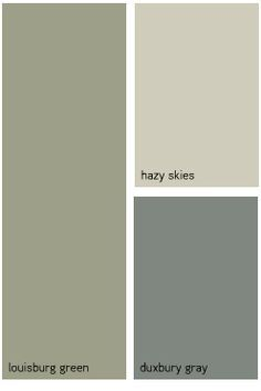 Exterior Paint Colors Combinations Green benjamin moore™ color combinations - interior 33 scheme. honeyed
