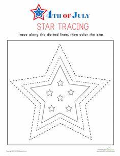 Worksheets: Star Tracing
