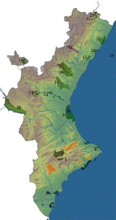 Espais Naturals del País Valencià - Mapa numerado.gif