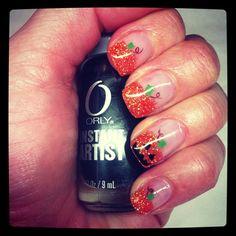 DIY Halloween Nails : Halloween pumpkin gel nails