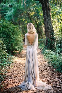 eclectic bride in non traditional wedding gown in pale blue andlavender deep v back Pretty Dresses, Beautiful Dresses, Bridal Gowns, Wedding Gowns, Ethereal Wedding Dress, Elegant Wedding, Colored Wedding Dress, Dip Dye Wedding Dress, Southern Wedding Inspiration