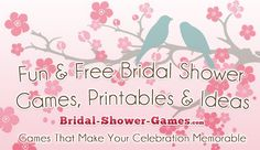 Fun bridal shower game ideas and completely free printables. The Best Resource online for wedding shower games!