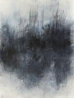 Lacune VIII    Huile, brou de noix, pierre noire et crayon sur papier.    24 x 32cm.    Vendu/Sold.    Email:contact@s-h-a-g.fr