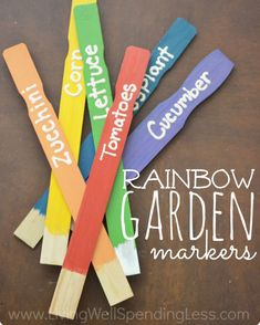 This 4-step project to make Rainbow Garden markers quickly adds more color to your garden.