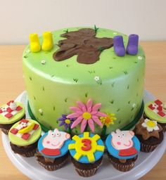 Peppa Pig Cake & Cupcakes by Cake Bash Studio Sherman Oaks,CA