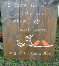 Not crazy about the design but would love this verse at my wedding