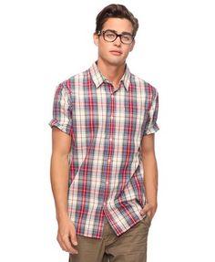 Short Sleeve Plaid Shirt | 21 MEN -