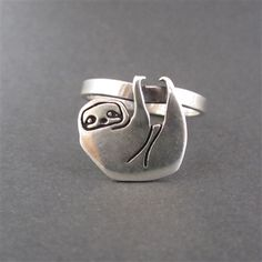 Sterling Silver Sloth Ring by Mark Poulin