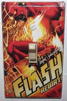 The Flash Light Switch Cover Plate  Flash by SuperheroWallArt