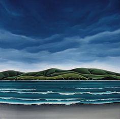 New Zealand artist Landscape Art, Landscape Paintings, Landscapes, Marlborough Sounds, New Zealand Landscape, New Zealand Art, Nz Art, Kiwiana, Contemporary Artists
