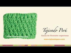Punto fantasía # 1 tejido en ganchillo tunecino - YouTube