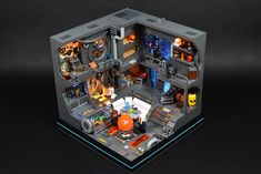 SW Cyberpunk Room Lego Design, Lego Creator, The Creator, Lego Craft, Lego Construction, Lego Room, Cool Lego Creations, Some People, Lego City