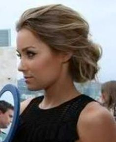 "Classy updo with twist of ""it only took me 5 minutes"" gorgeous hair and gorgeous woman!"
