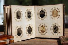 Miniature Victorian Era Fairy Album with 90 Photos