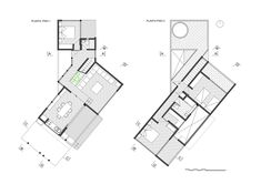 Image 18 of 26 from gallery of Los Molles House / Thomas Löwenstein. and floor Plans Architectural Floor Plans, Chili, Casas Containers, Beach Town, Modular Homes, Architecture Plan, House Plans, Flooring, How To Plan