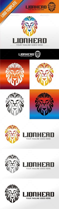 New Lion Head — Vector EPS #herulogo #wild • Available here → https://graphicriver.net/item/new-lion-head/12016660?ref=pxcr