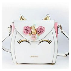 Here is something new and exciting! How about a bag version of the Unicorn Cake you have been seeing everywhere! This Unicorn Bag is a multi-wearable bag with a tote option, backpack and cross-body Unicorn Gifts, Cute Unicorn, Cute Purses, Purses And Bags, Unicorn Fashion, Unicorns And Mermaids, Cute Backpacks, Cute Bags, Unicorn Birthday