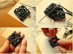 How to Make Earrings with Woven Plastic Bags
