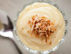Old fashioned dairy free Homemade Coconut Pudding made with coconut milk and coconut cream is the perfect dessert because it's creamy rich and delicious. Sweets Recipes, Real Food Recipes, Baking Recipes, Snack Recipes, Yummy Food, Snacks, Pie Recipes, Vegan Recipes, Puddings