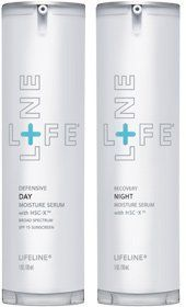 Anti-Aging Day/Night Moisture Serum with stem cells - 2 pk, by Lifeline Stem Cell Skin Care Both the Defensive Day Moisture Serum and Recovery Night Moisture Serum include growth factors from patented non-embryonic human stem  Read more http://cosmeticcastle.net/anti-aging-daynight-moisture-serum-with-stem-cells-2-pk-by-lifeline-stem-cell-skin-care/  Visit http://cosmeticcastle.net to read cosmetic reviews