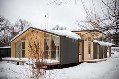 #dubldom #bioarchitects #modularhome #modularhouse #modular #prefab #prefabricated #prefabhouse #cabin #tinyhouse #compactliving #fabprefab #wood #timber #smallhome #smallhouse #woodhouse #architecture #design #winterhouse #модульныйдом #каркасныйдом #быстровозводимыйдом #дача #готовыйдом #домподключ #деревянныйдом #архитектура #дизайн #дубльдом My Design, House Design, Prefab Homes, Home Interior Design, Beach House, Architecture Design, Shed, New Homes, Exterior