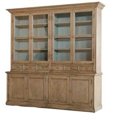 Aged Double Display Cabinet