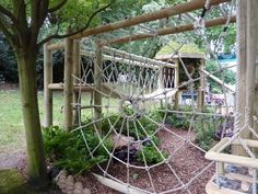 spider web climbing-frame Chelsea 2011 by ruth Kids Outdoor Play, Outdoor Play Spaces, Kids Play Area, Backyard For Kids, Outdoor Fun, Natural Outdoor Playground, Backyard Playset, Backyard Playground, Playground Ideas