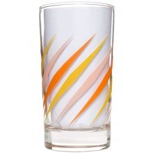 RETRO DIAMOND DINER GLASS ORANGE