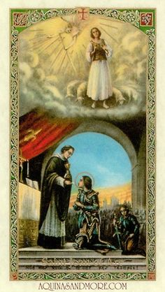 St. Joan of Arc Laminated Prayer Card