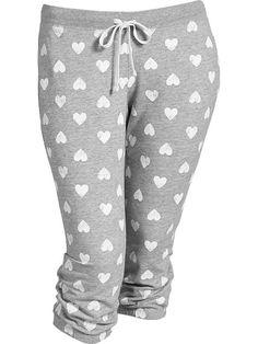 d9c3418e22e54 Women s Plus Slim Terry-Fleece Capris Product Image Cute Pjs