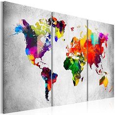 Canvas Print World Map Framed Wall Art Picture Image Framed Maps, Framed Wall Art, Wall Art Prints, Poster Prints, Framed Prints, Canvas Prints, Wall Art Pictures, Pictures To Paint, Pictures Images