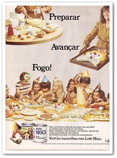 Em 1962, o rótulo trazia suas primeiras receitas: pudim, doce de leite e sorvete de Leite moça.